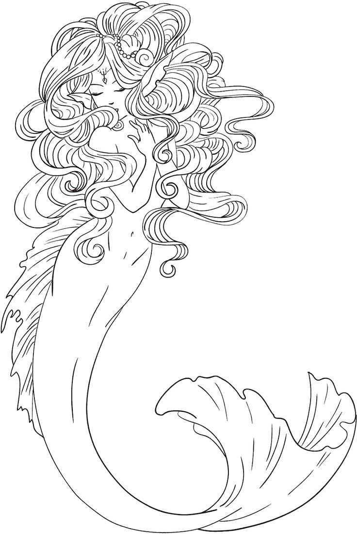 Meerjungfrau Malvorlagen Deniz Kizi Peri Kizi Boyama Sayfalari Sea Girl Fairy Coloring Page Boyama Colorin Ausmalbilder Malvorlagen Malvorlagen Tiere