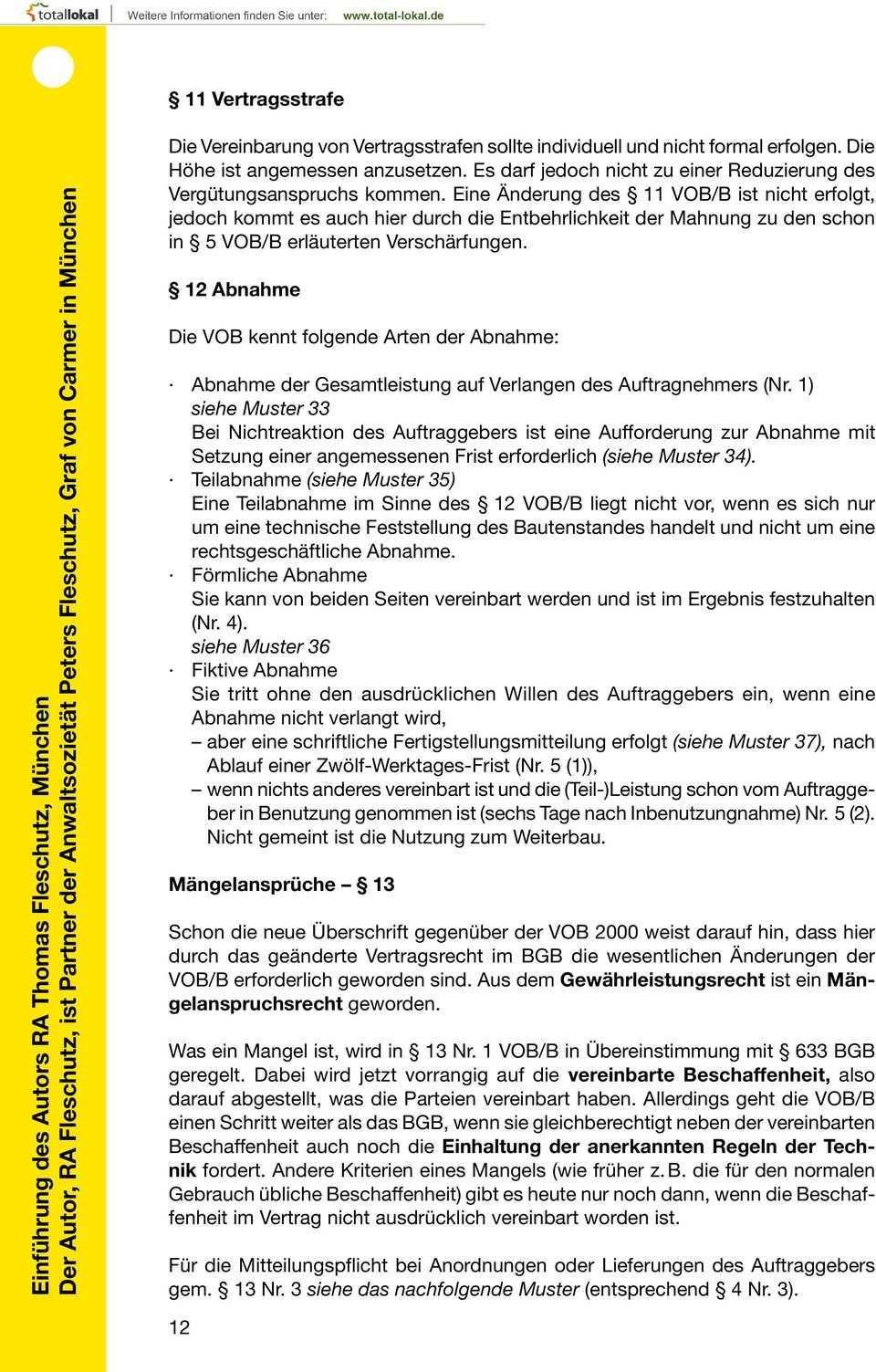 Innung Fur Elektro Und Informationstechnik Munchen Mustersammlung Vob B Pdf Kostenfreier Download