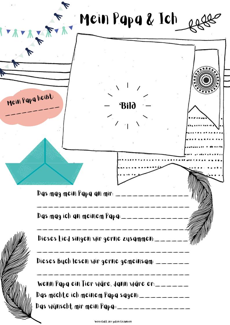 Mein Papa Ich Kostenlose Vorlagen Fur Kita Kinder Portfolio Kindergarten Freunde Buch Elternbriefe
