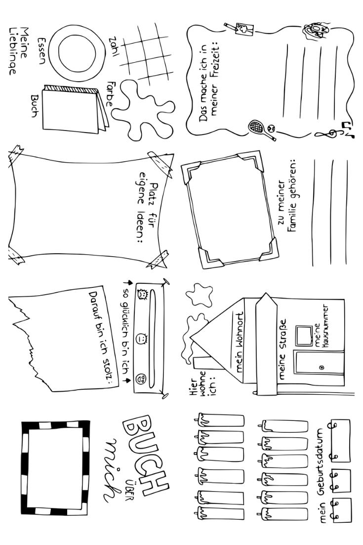 Das Bin Ich Faltbuch Steckbrief Vorschulbuch Unterrichtsmaterial Freunde Buch