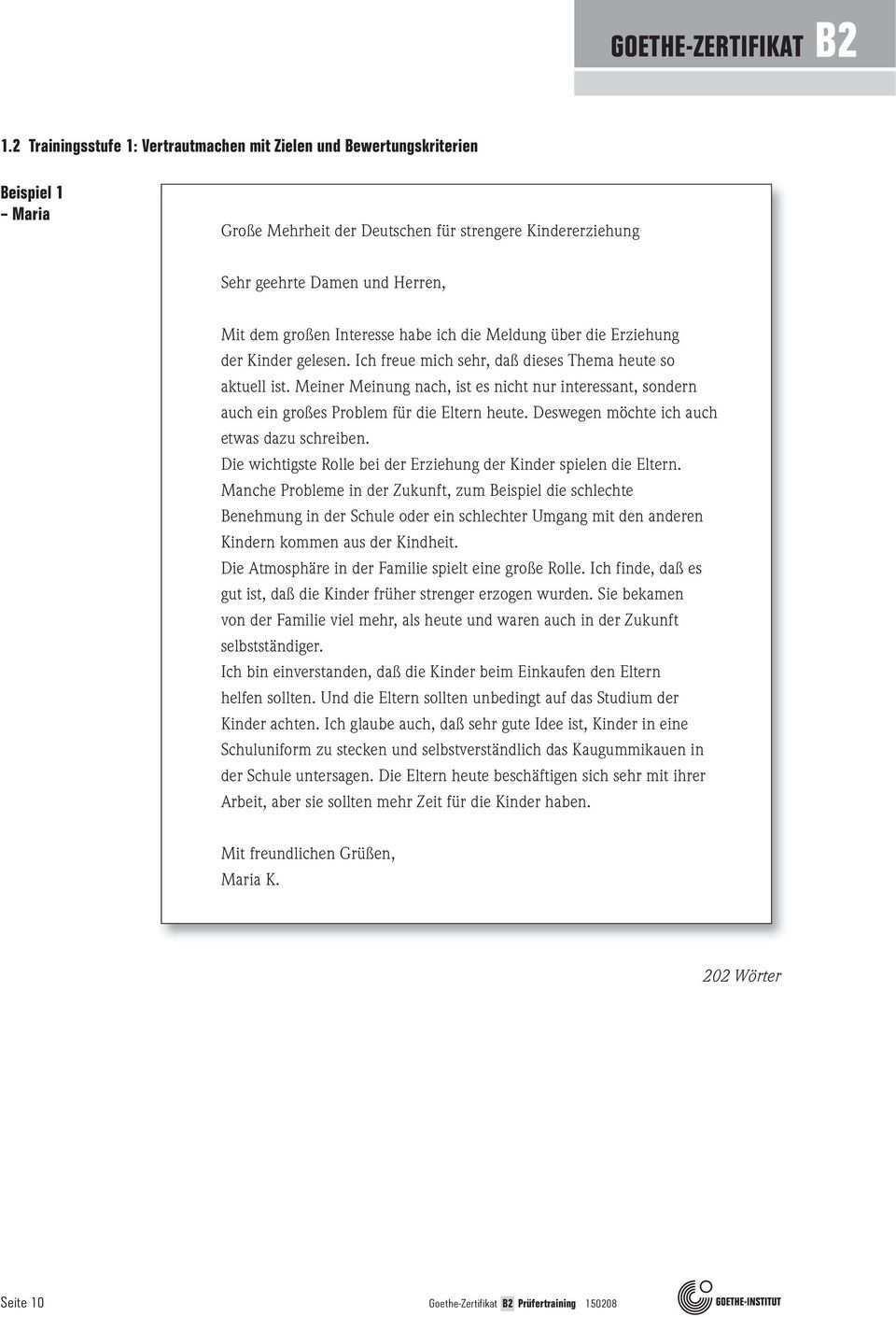 Goethe Zertifikat B2 Trainingsmaterial Fur Prufende Schriftlich Mundlich B1 B2 C1 C2 Pdf Free Download