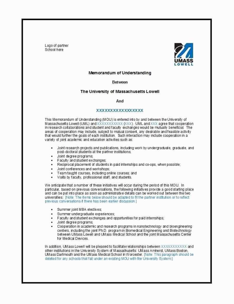 Memorandum Of Understanding Sample Luxury 50 Free Memorandum Of Understanding Templates Word Memorandum Template Memorandum Business Resume Template