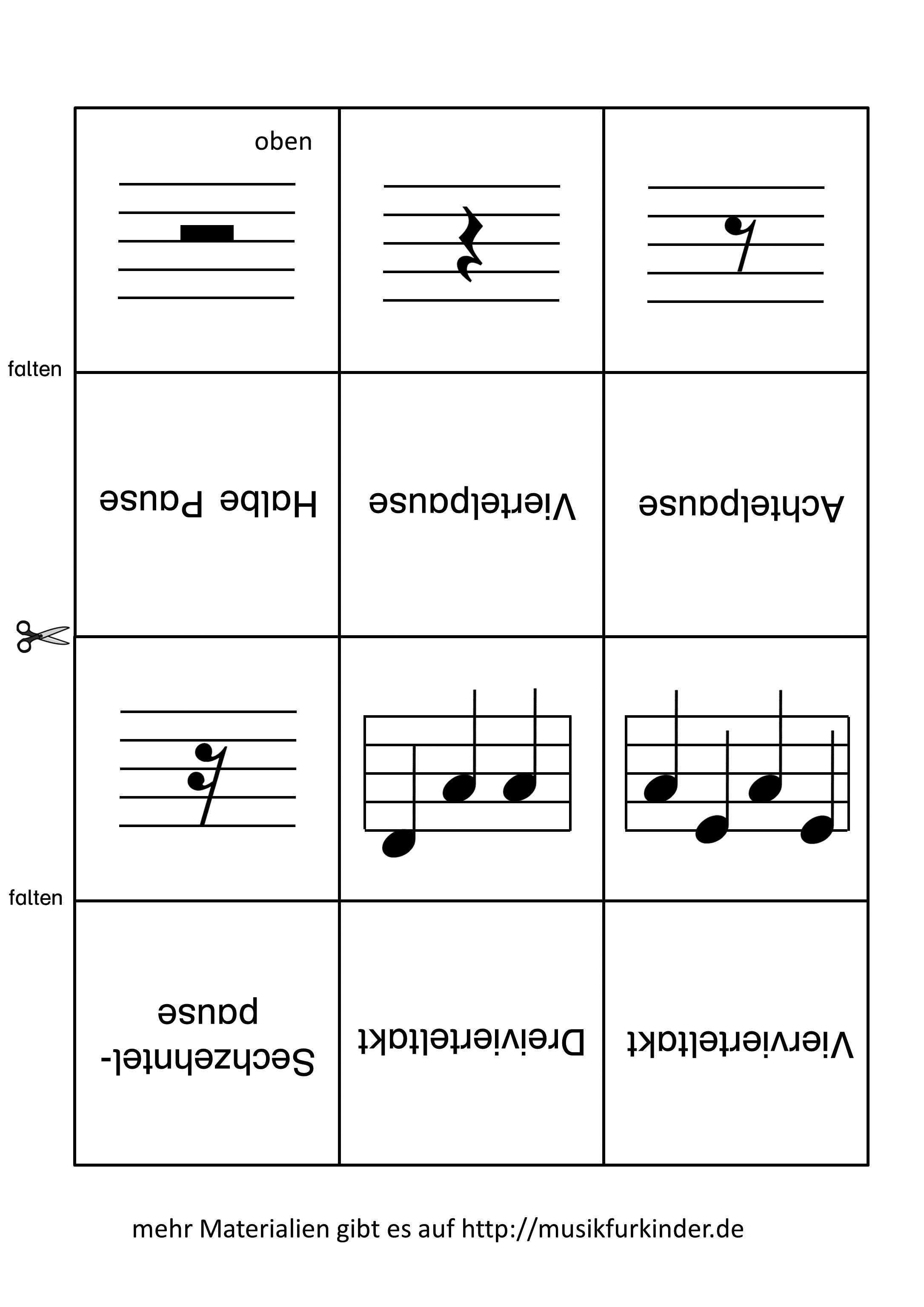Notenwerte Memory Lernkarten 2 Musik Fur Kinder Notenwerte Lernkarten Noten Lernen