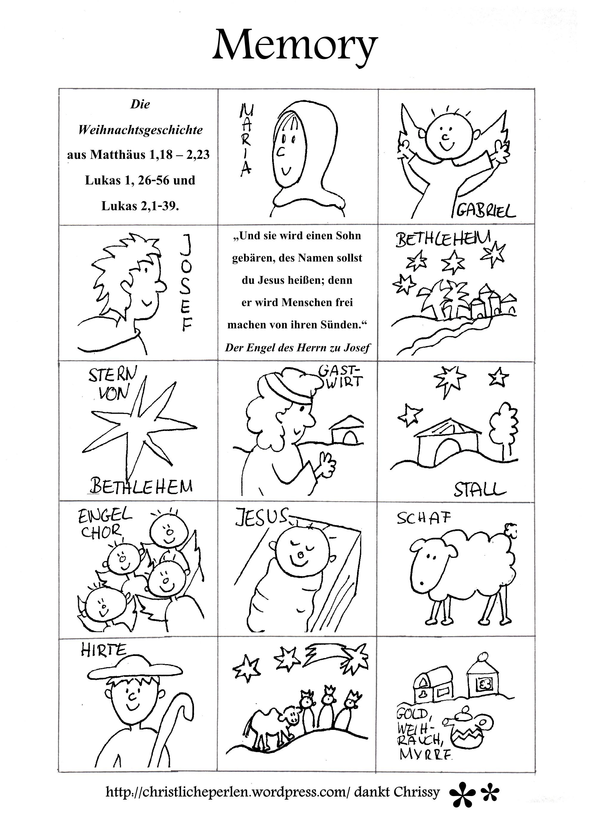 Weihnachtsmemory Basteln Weihnachtsgeschichte Kinder Bibelgeschichten Basteln Weihnachtsgeschichte Kindergarten