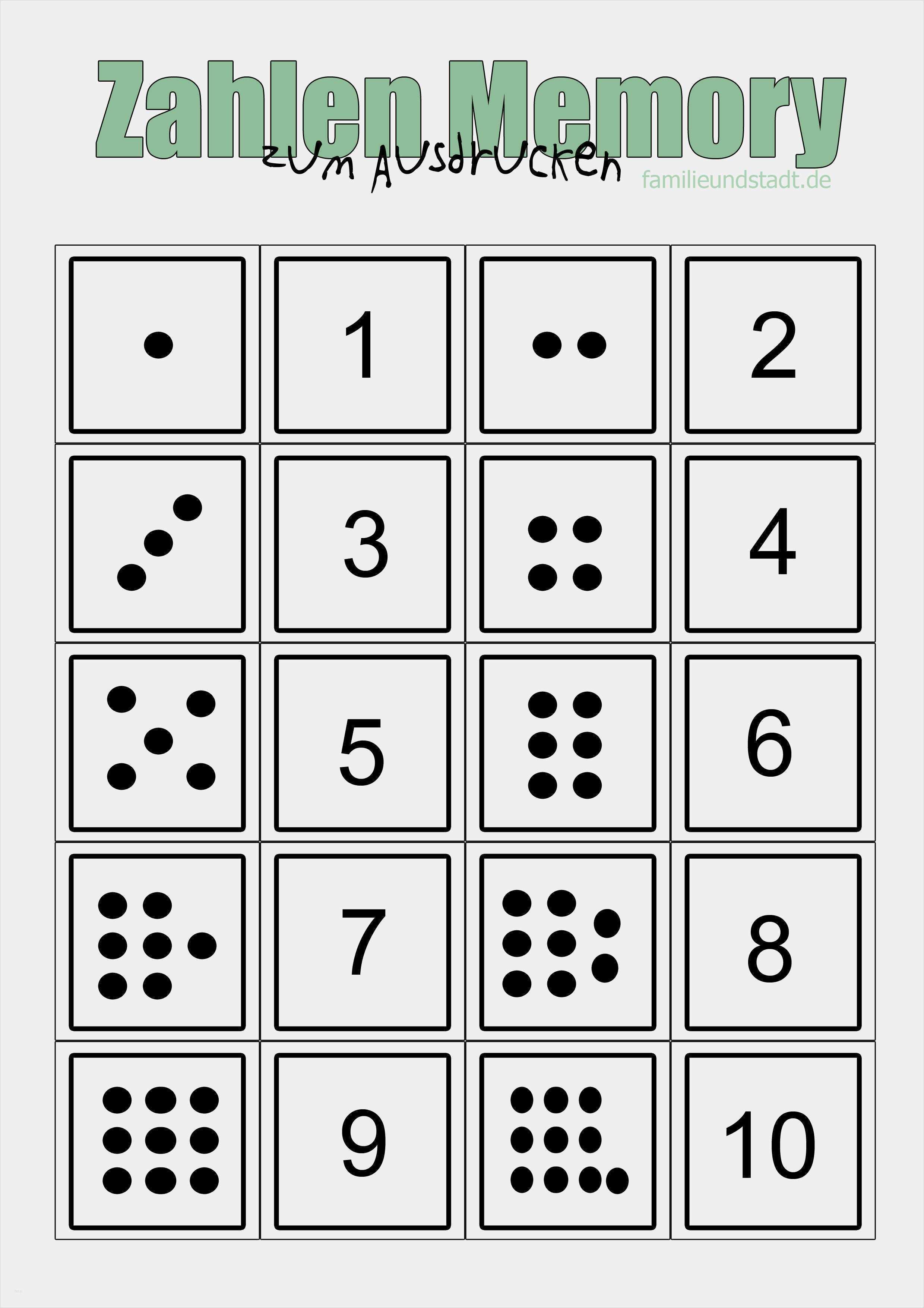 34 Angenehm Memory Spiel Selber Machen Vorlage Bilder Ausdrucken Zahlen Lernen Zahlen Lernen Vorschule