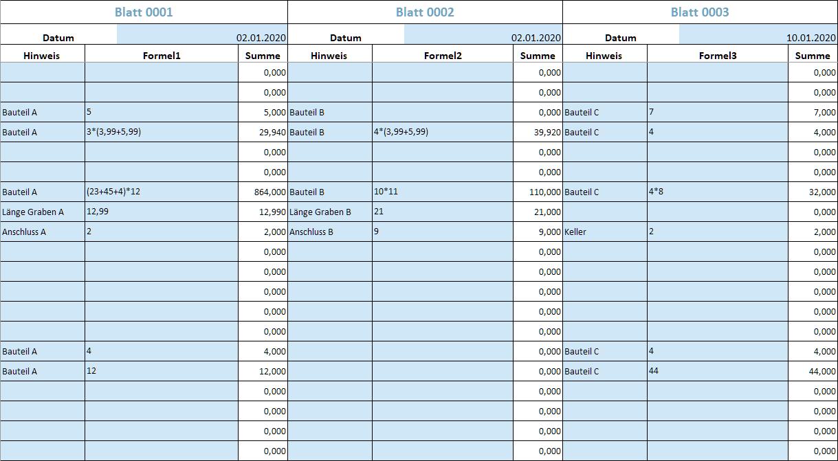 Gaeb Online Excel Aufmass Als Da11 Und Gaeb X31