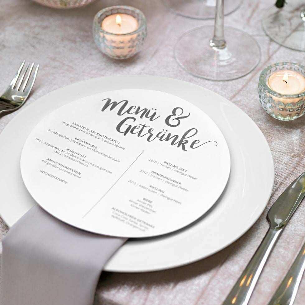 Menukarten Rund Und Ehrenplatz Schilder Menukarte Erstellen Karte Hochzeit Hochzeit Menu