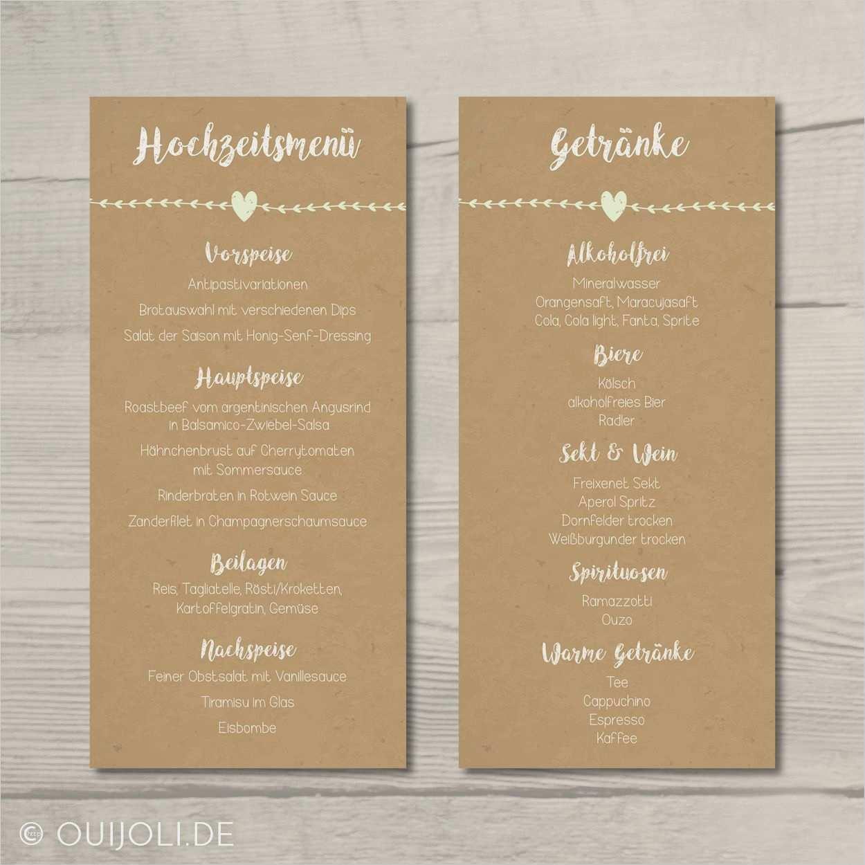 33 Erstaunlich Menukarte Hochzeit Vorlage Bilder Menukarten Hochzeit Getrankekarte Hochzeit Getranke Karte Hochzeit