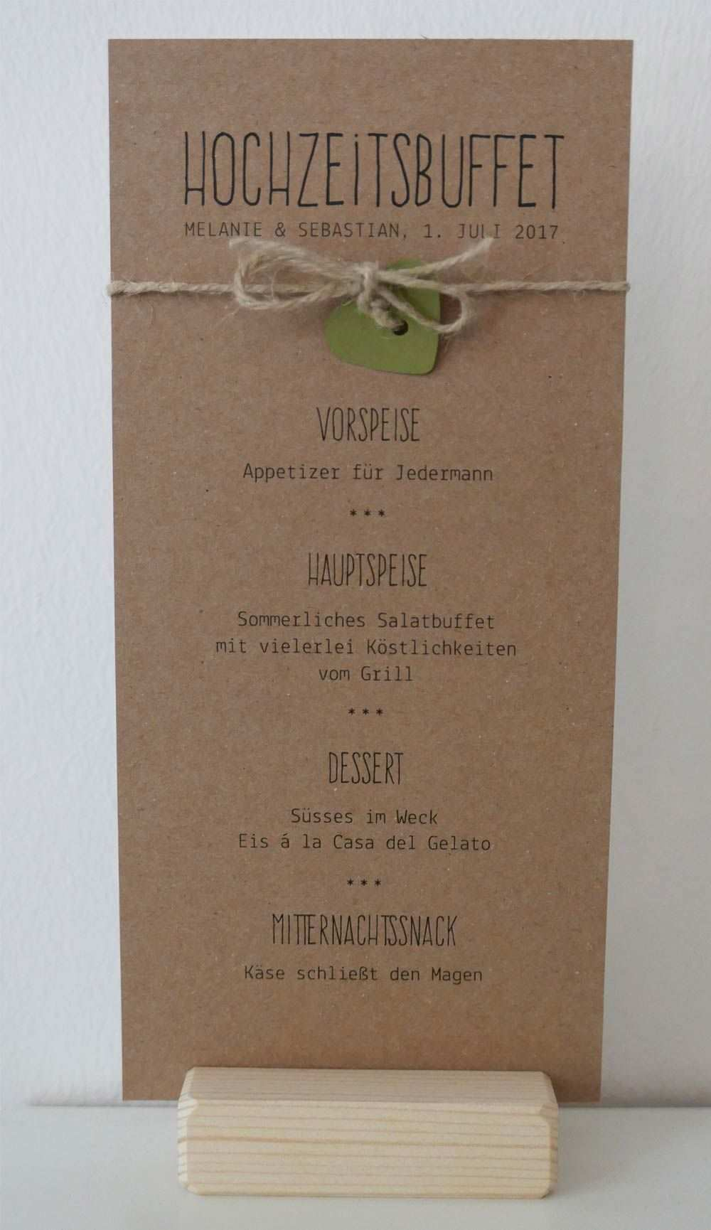 Menukarte Auf Kraftpapier Gedruckt Serie Paulina Wedding Menu On Kraft Paper Hochzeit Menu Menukarten Hochzeit Karte Hochzeit