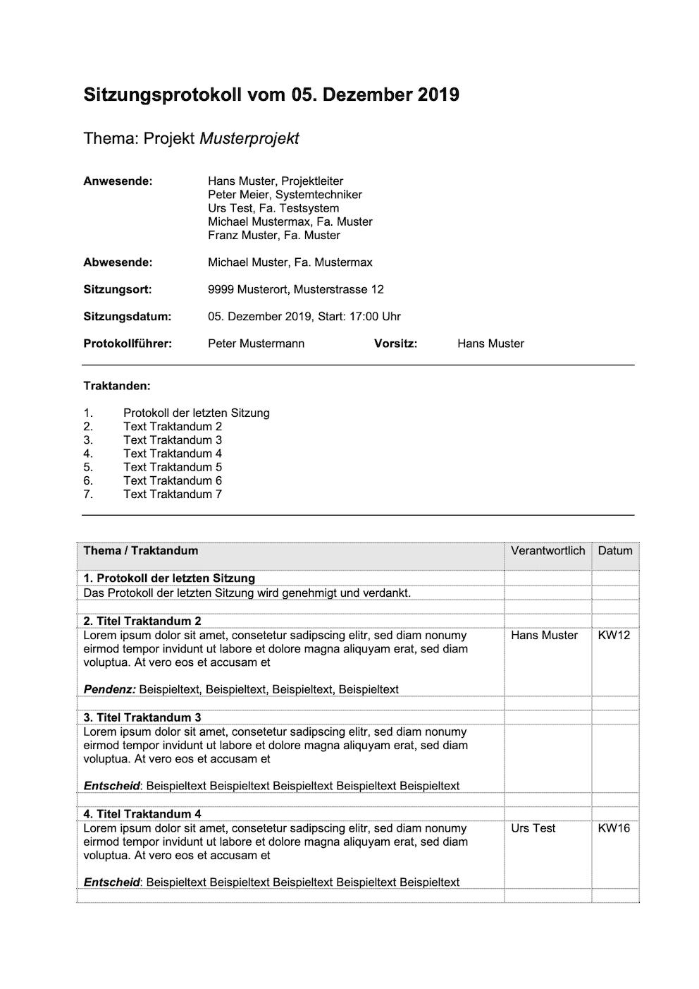 Protokoll Vorlage Briefvorlage Word Briefvorlagen Lebenslauf Vorlagen Word