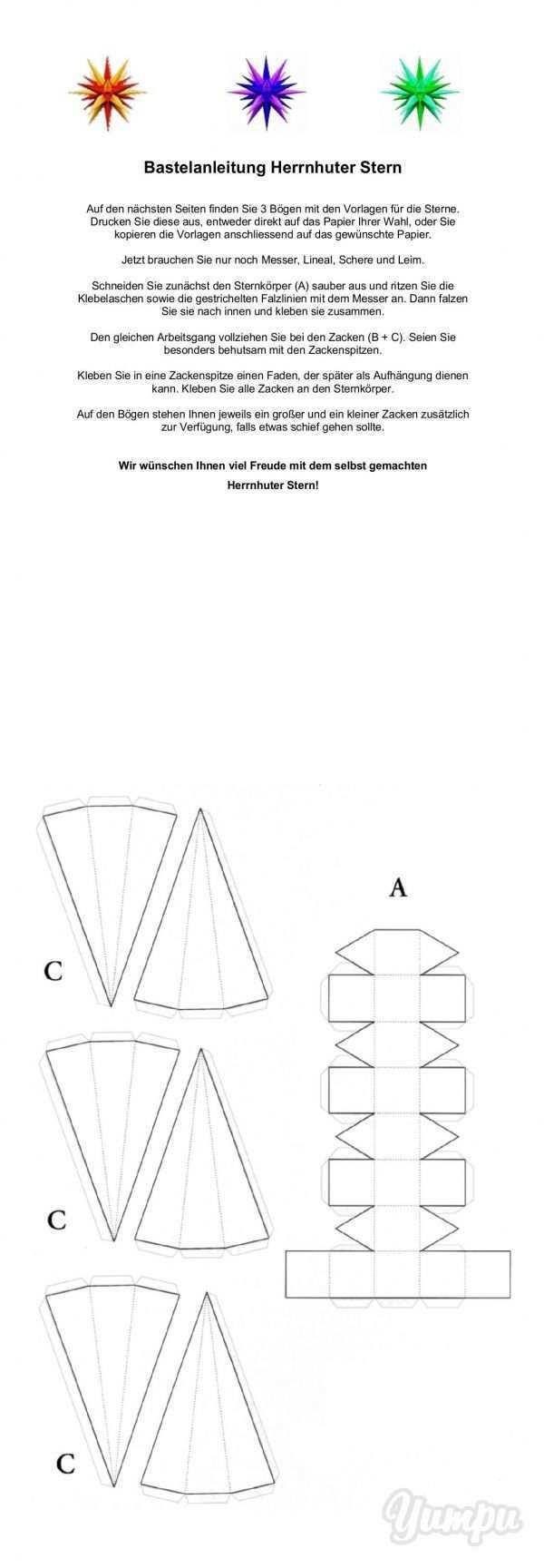 Crafting Instructions Herrnhuter Stern Zuerich Reformier Magazine With 4 Pages Bastelanleitungen Herrnhuter Stern Basteln Basteln Anleitung