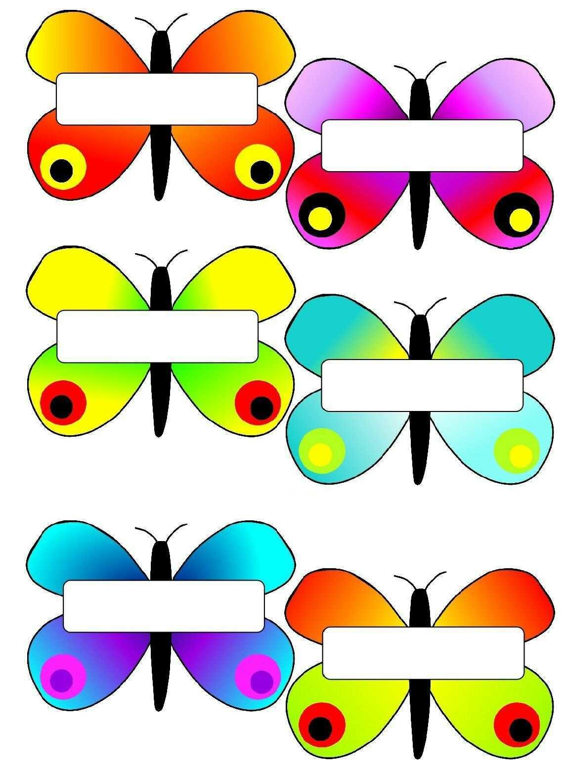Etiquetas Mariposas Etiquetas Escolares Para Imprimir Calendario Para Ninos Libros De Recuerdos