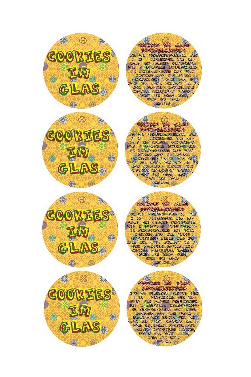 Frelikat Vorlage Etikett Cookies Im Glas