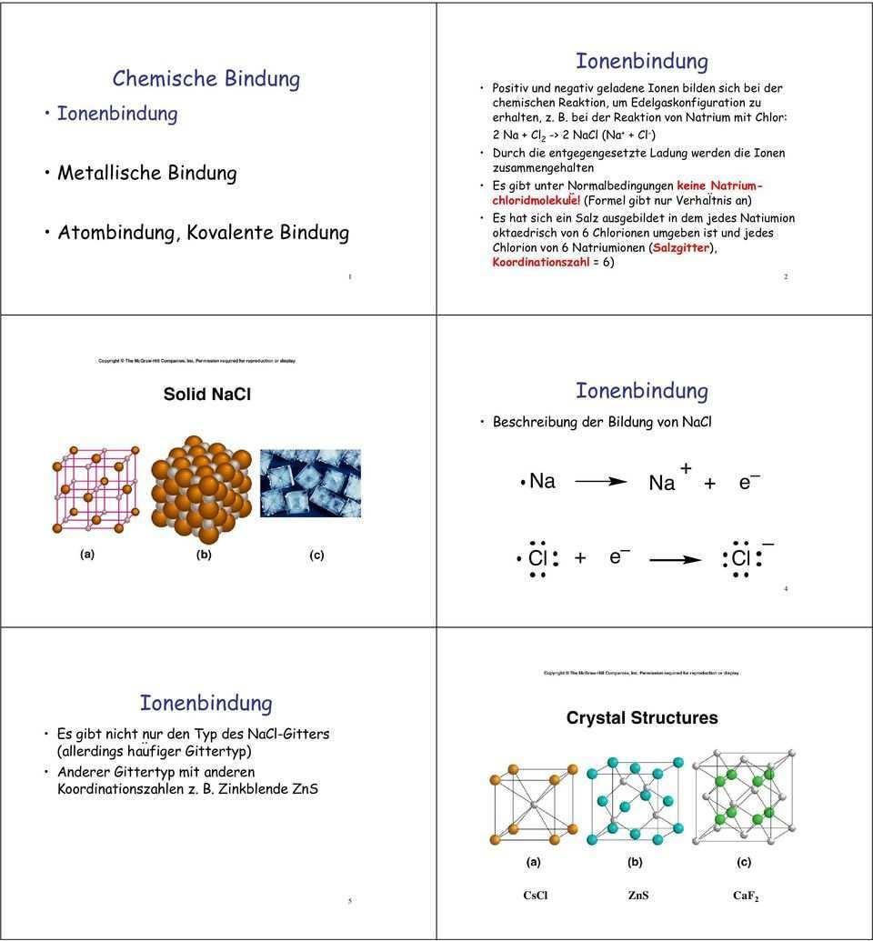 Ionenbindung Chemische Bindung Ionenbindung Ionenbindung Na E E Cl Ionenbindung Metallische Bindung Atombindung Kovalente Bindung Pdf Kostenfreier Download