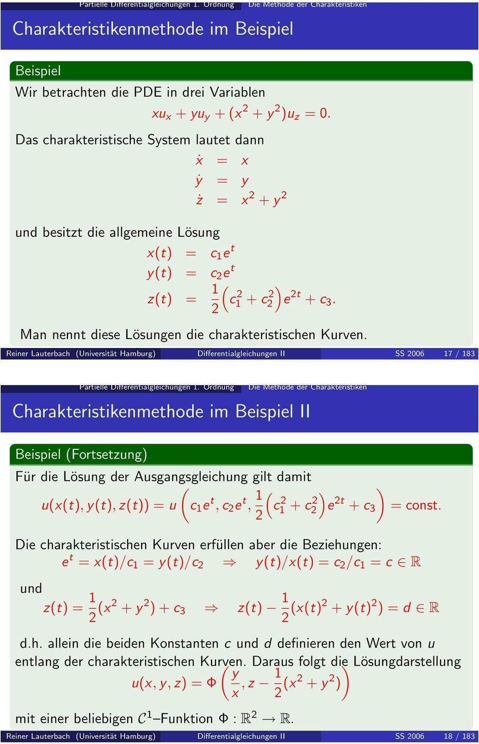 Charakteristikenmethode Im Beispiel Pdf Free Download