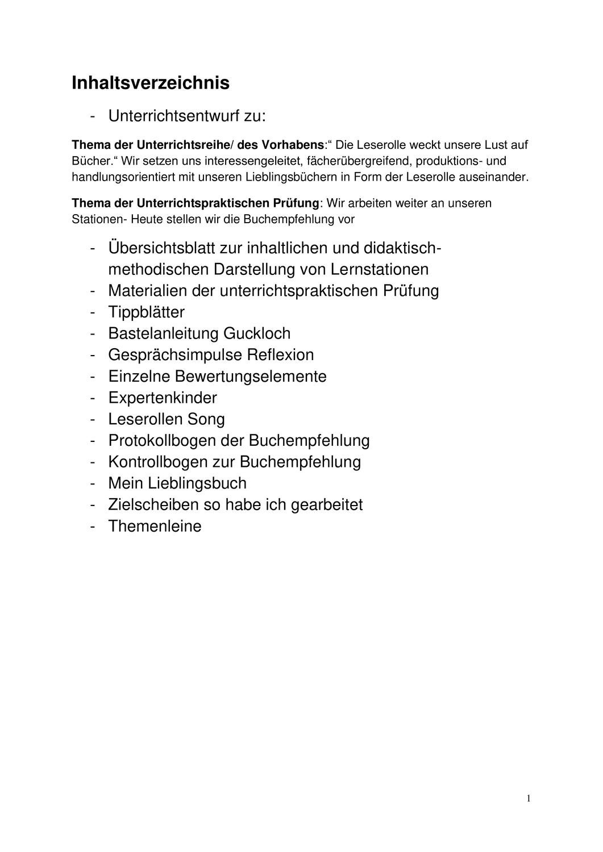 Upp Entwurf Deutsch Leserolle Plus Gesammelte Materialien Unterrichtsmaterial Im Fach Deutsch Leserolle Lesen Buchempfehlungen