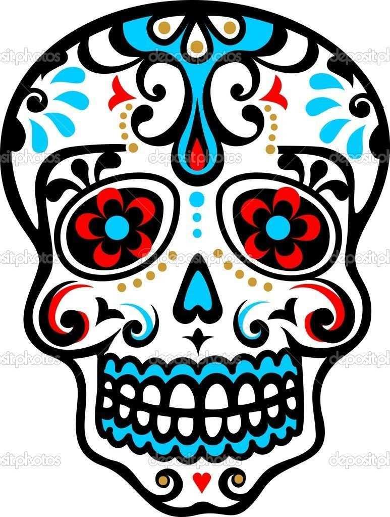Calavera Mexicana Totenschadel Zuckerschadel Schadelkunst