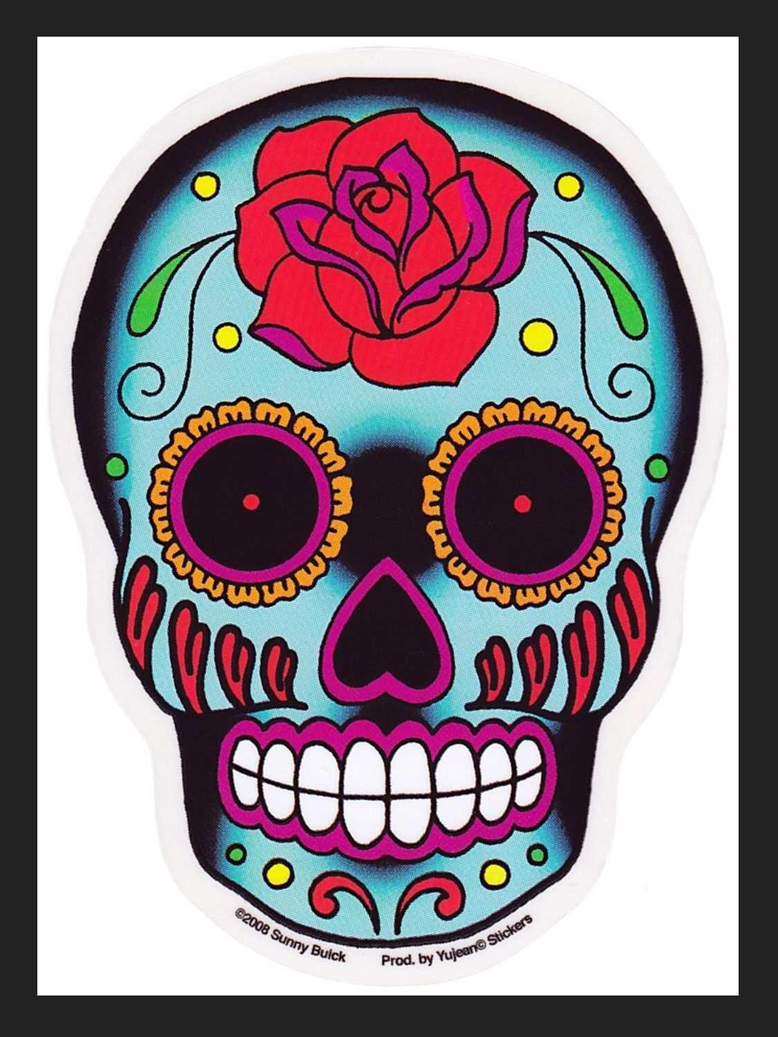 I Heart Sugar Skulls Schadelkunst Mexikanische Schadel Zuckerschadel