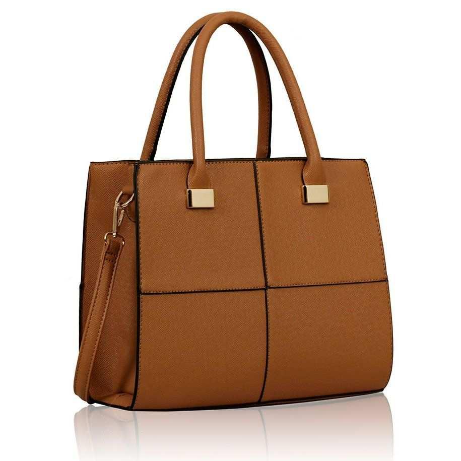 Mk Design Tan Fashion Tote Women Handbags Bags
