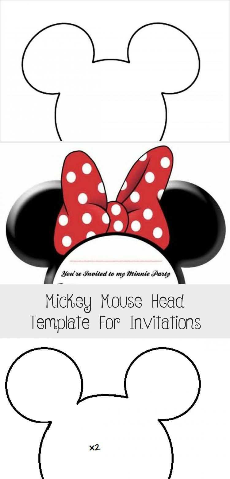 Mickey Mouse Head Template For Invitations Mickey Maus Urheber Make Up Designs