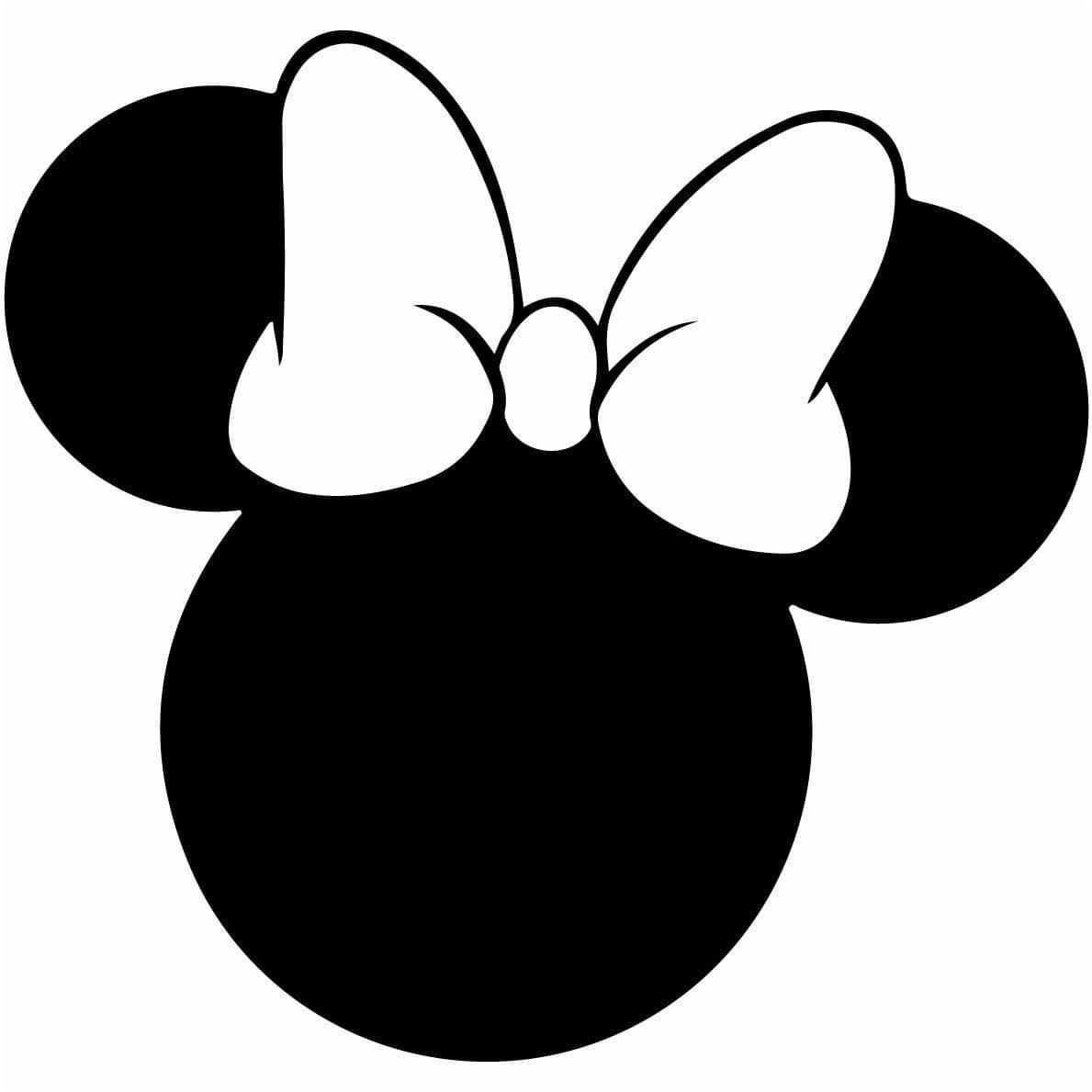 Pin Von Taylor Heckman Auf Cricut Minnie Maus Silhouette Minnie Maus Geburtstag Disney Silhouetten