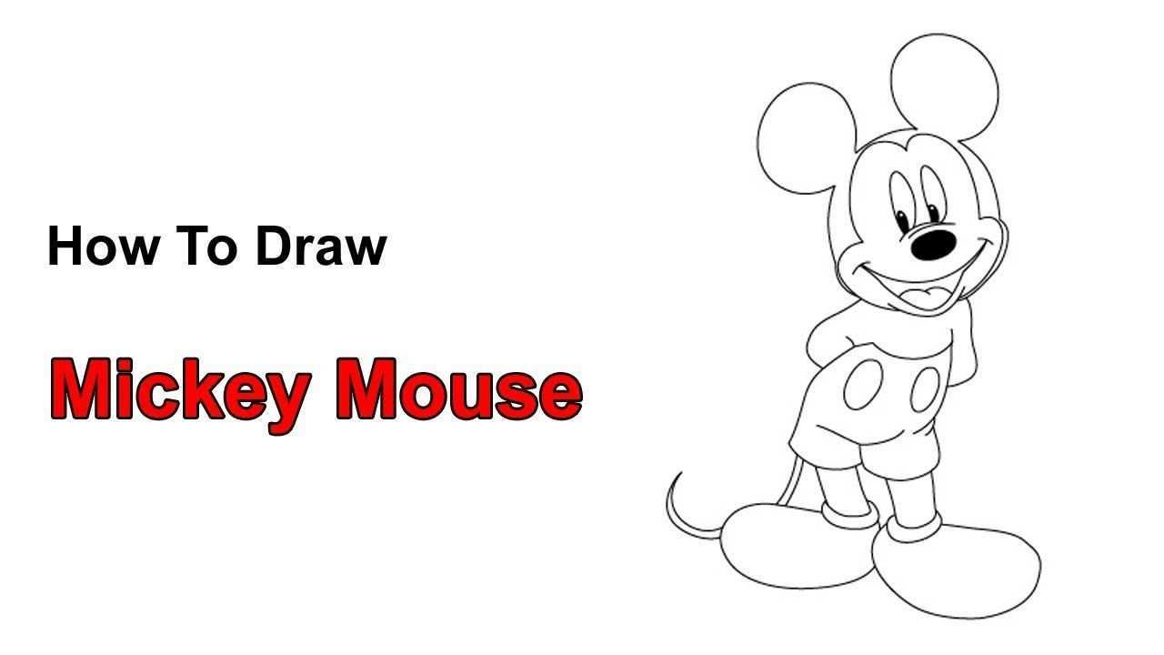 How To Draw Mickey Mouse Mickey Mouse Drawings Mickey Love