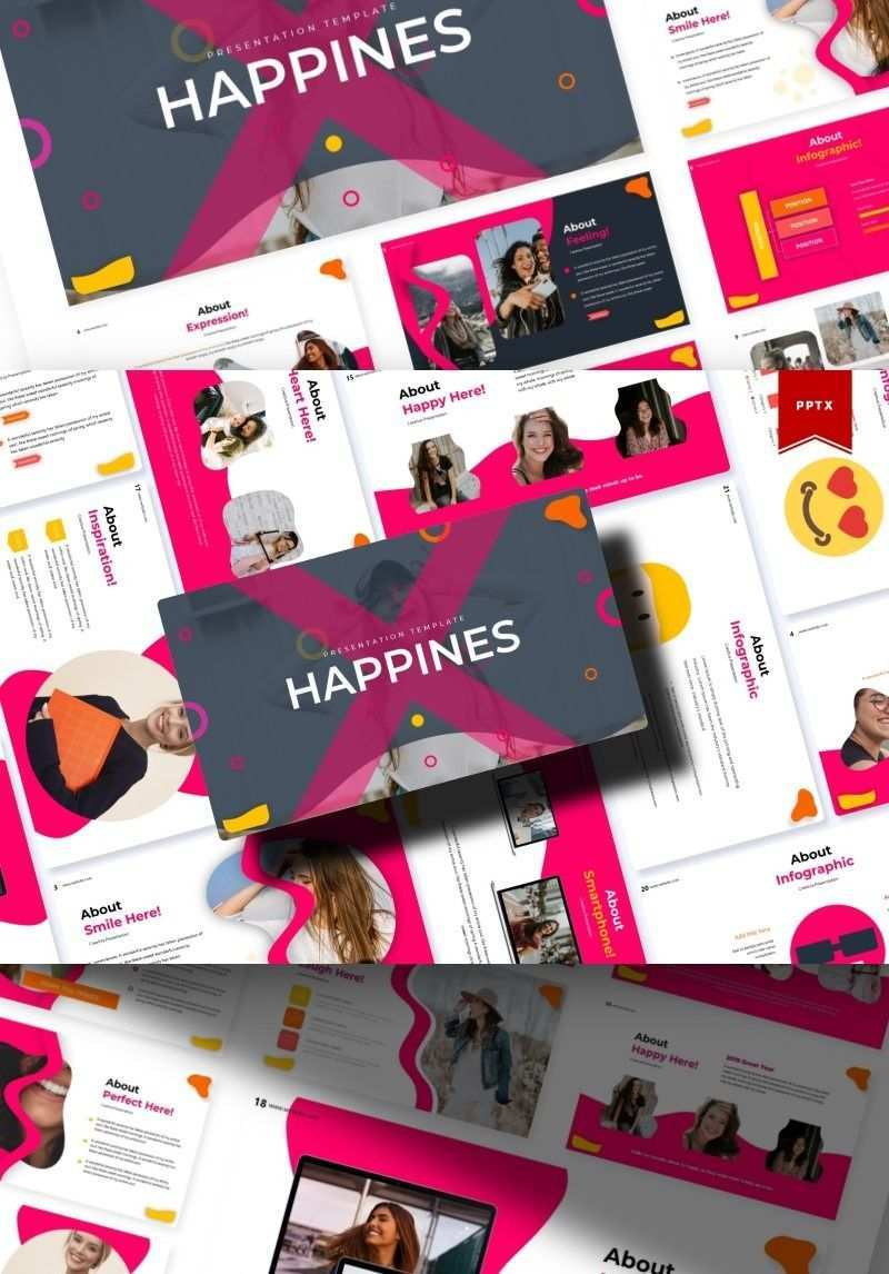 Happines Powerpoint Template Creative Presentation Ideas Powerpoint Templates Templates