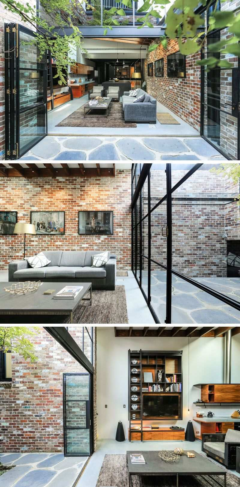 A Garage Was Converted Into This Comfortable Living Space Modern House Design House Design House Exterior