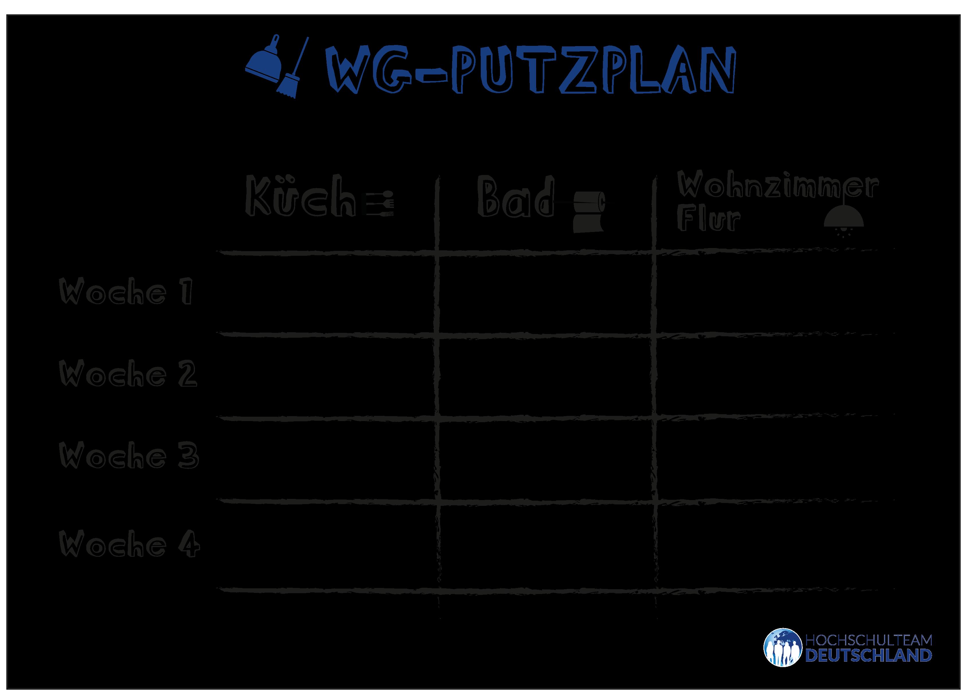 Hier Findet Ihr Unseren Putzplan Fur Ein Besser Organisiertes Zusammenleben In Eurer Wg Putzplan Putzplan Wg Haushalts Tipps
