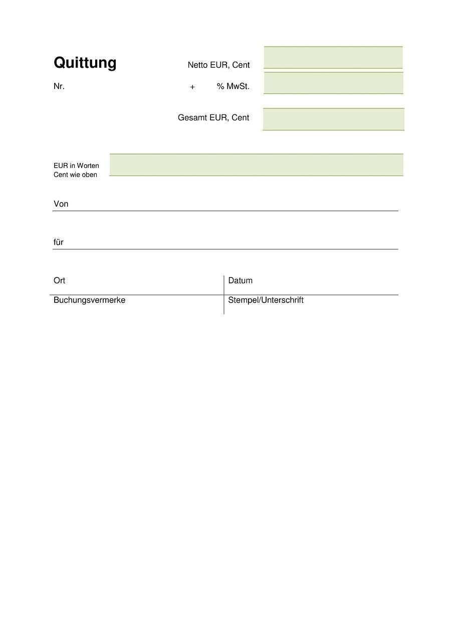 Bildergebnis Fur Quittung Vorlage Pdf Document Templates Templates Bar Chart