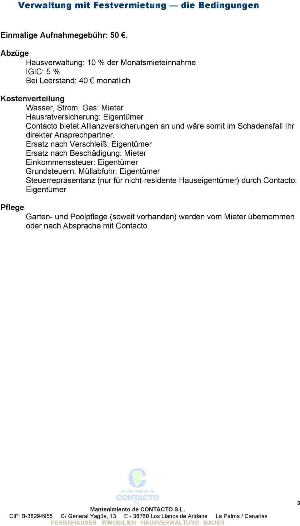 Hausverwaltung Mit Festvermietung Pdf Kostenfreier Download
