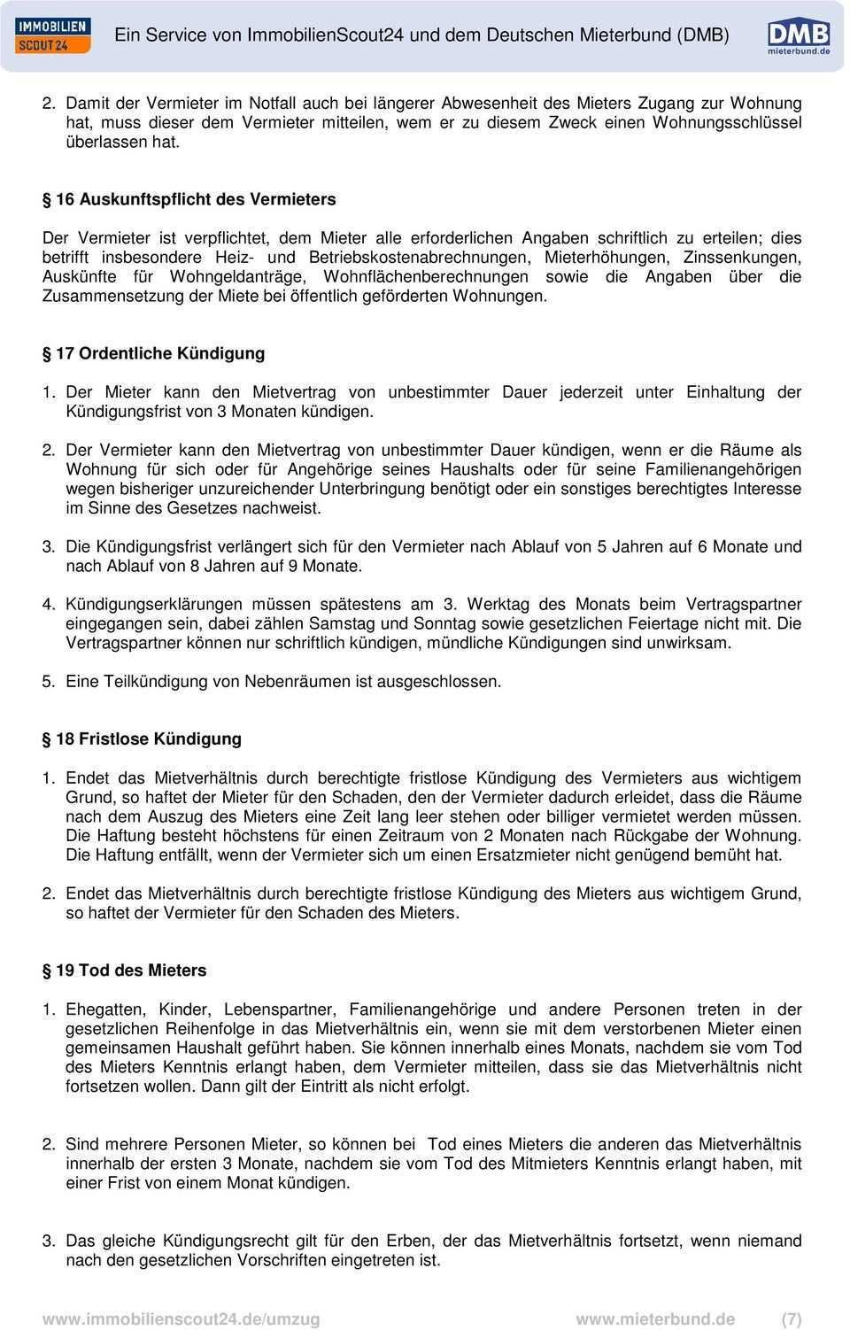 Wohnungs Mietvertrag Staffelmietvertrag Pdf Free Download