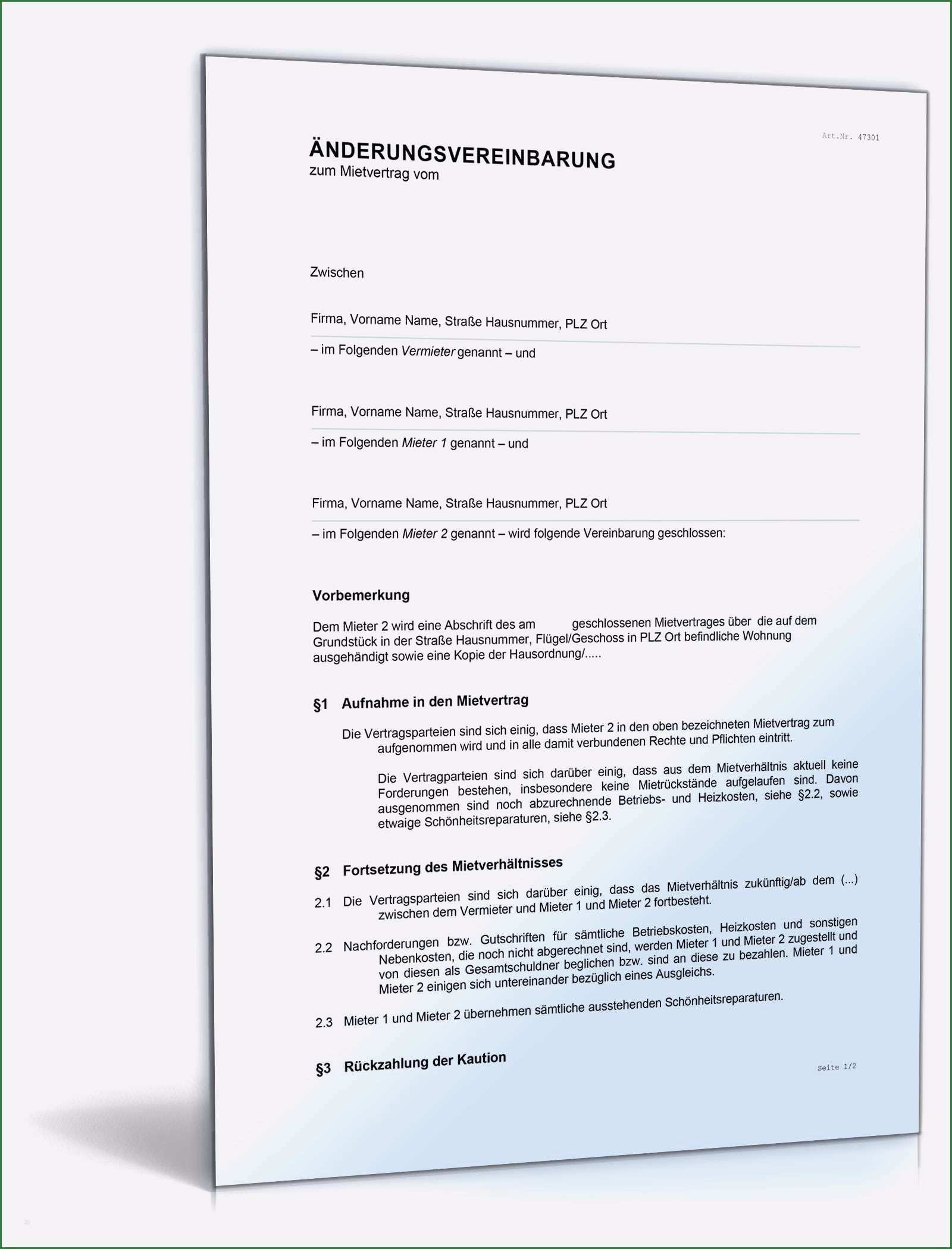 13 Ideal Anderung Mietvertrag Vorlage Die Sie Begeistern Lebenslauf Layout Vertrag Rechnungsvorlage