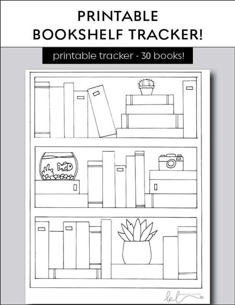 Bookshelf Reading Tracker Book Goal Printable Etsy Bullet Journal Books Bullet Journal Ideas Pages Reading Tracker