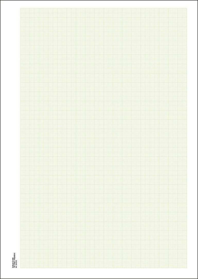 Millimeterpapier Din A4 Grun Papier Weisses Papier Grun