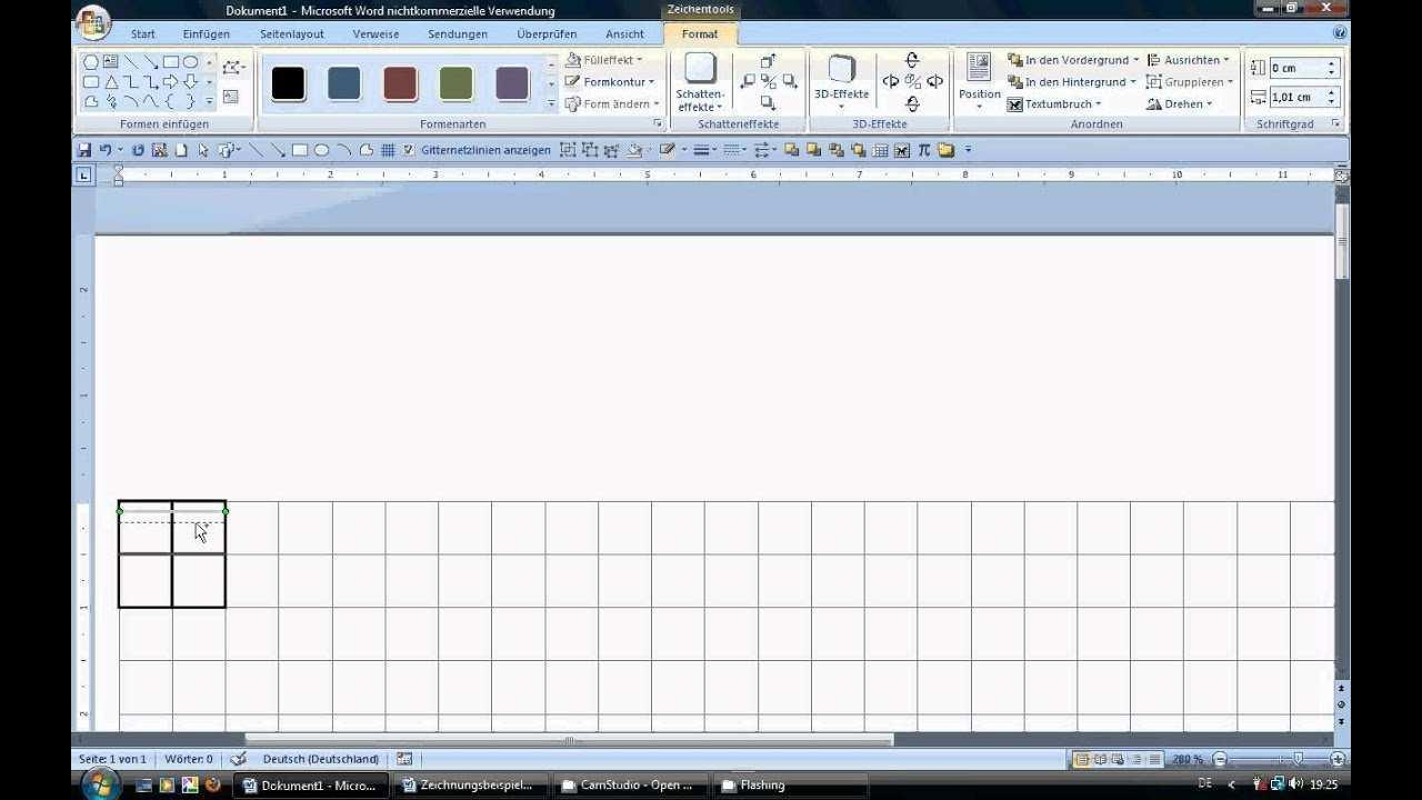 Www Mathe Mit Word De 14 Milimeterpapier Zeichnen Youtube