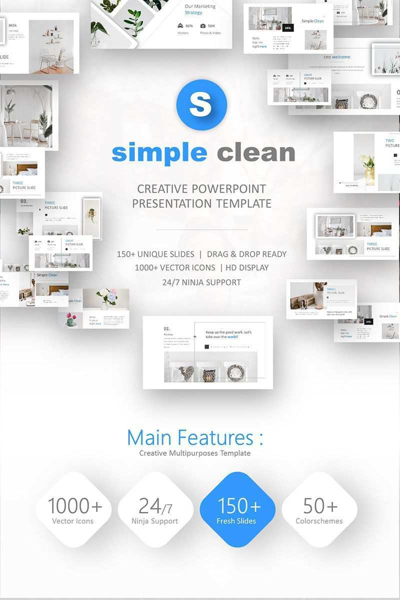 Simple Clean Powerpoint Template 74242 Powerpoint Templates Creative Powerpoint Presentations Powerpoint