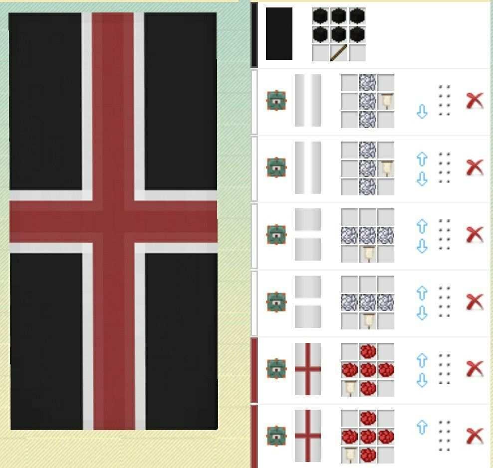 Minecraft Banner Red Cross Minecraft Banners Minecraft Banner Patterns Minecraft Banner Designs