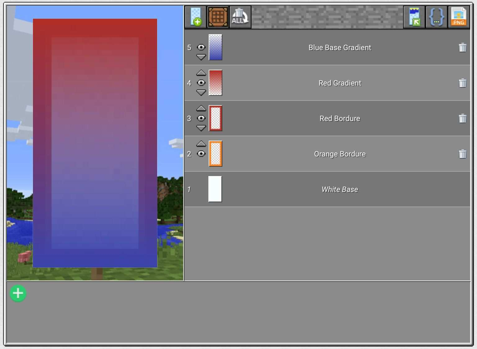 Red And Blue Gradient Banner Minecraft Banners Minecraft Banner Designs Minecraft Projects