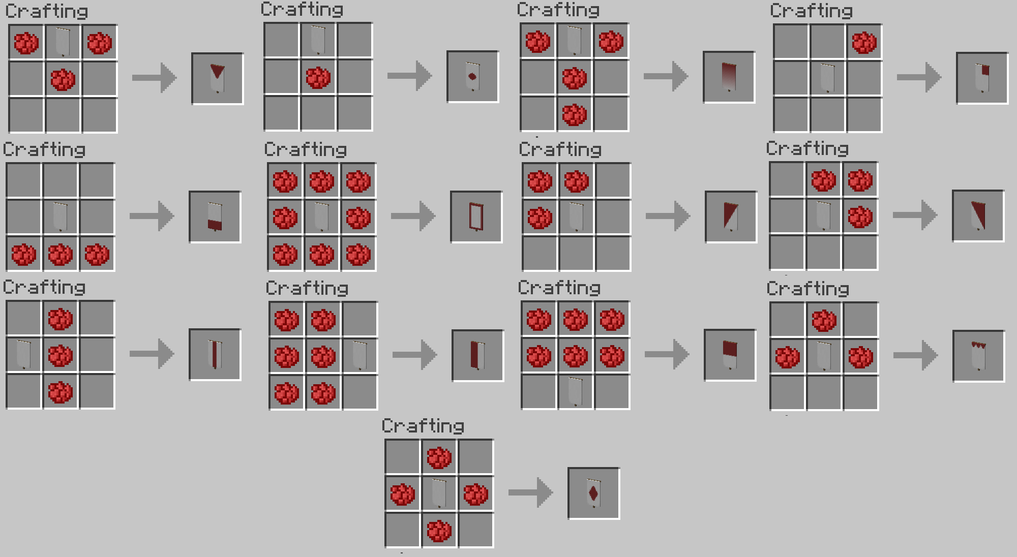 Minecraft Banner Fade Recipe Google Search Planos Minecraft Trucos De Minecraft Mods De Minecraft