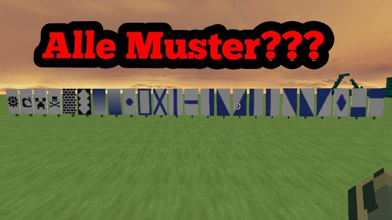 Minecraft Alle Banner Muster Youtube