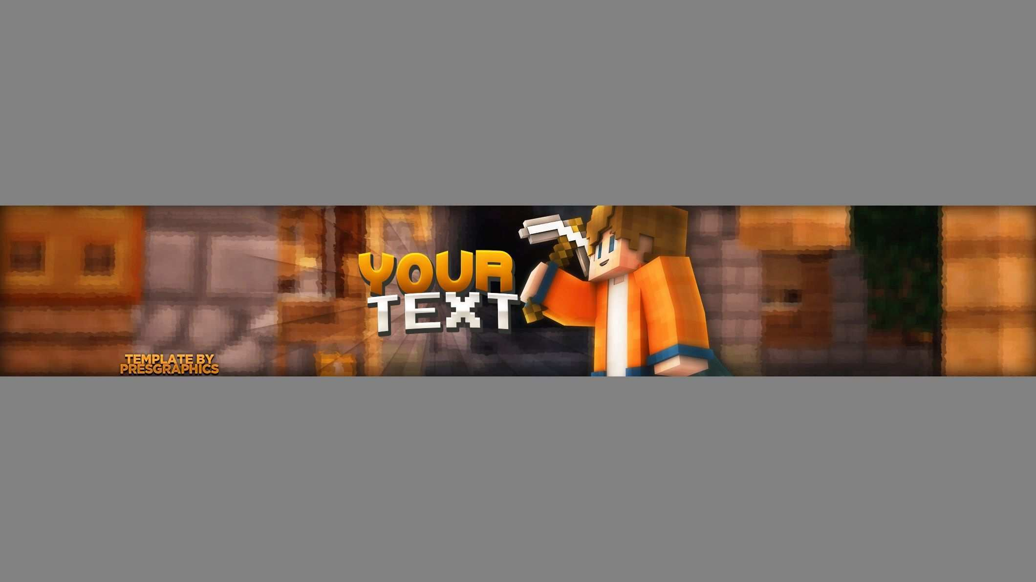 Presgraphics Minecraft Youtube Banner Template Photoshop For Free Seyahat
