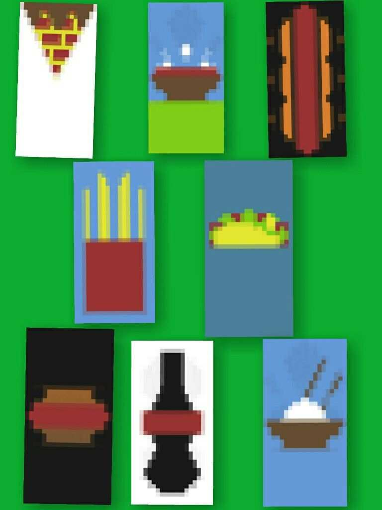 Minecraft Banners Foods And Drinks Minecraft Banners Minecraft Banner Designs Minecraft Designs