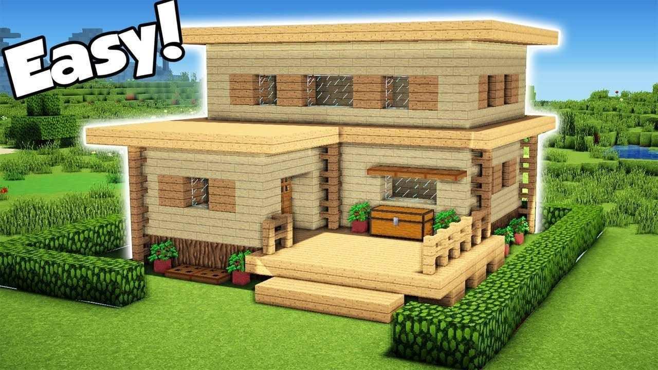 Minecraft Easy Starter House Tutorial Wie Man Ein Haus In Minecraft Baut 1 2018 Minecraft Minecraft Haus Bauplan Minecraft Haus Minecraft Gebaude
