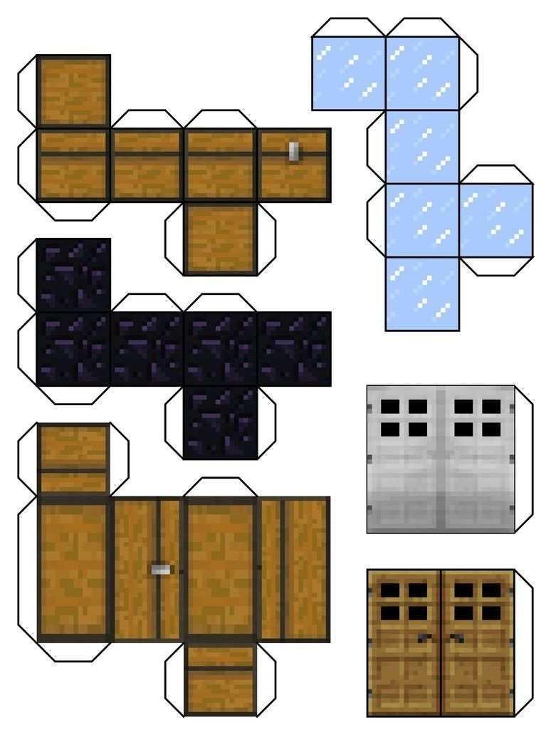 Minecraft Papercraft Blocks Minecraft Blocks 6 By Dylan A King With Regard To Minecraft Paper Craft Bloc Minecraft Elisleri Minecraft Sablonlari Kagit Elisi