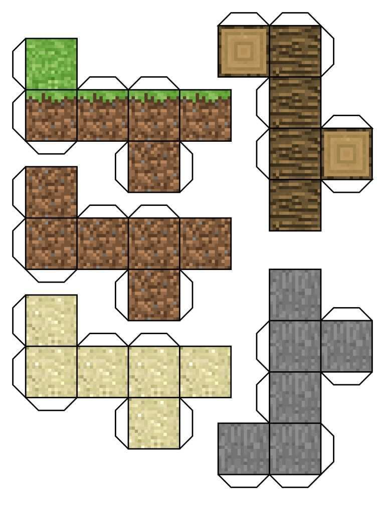 More Than 14 Irresistible Paper Craft Minecraft Blocks Illustrate Better Paper Crafts On Pinterest Minecraft Printables Minecraft Blocks Minecraft Crafts