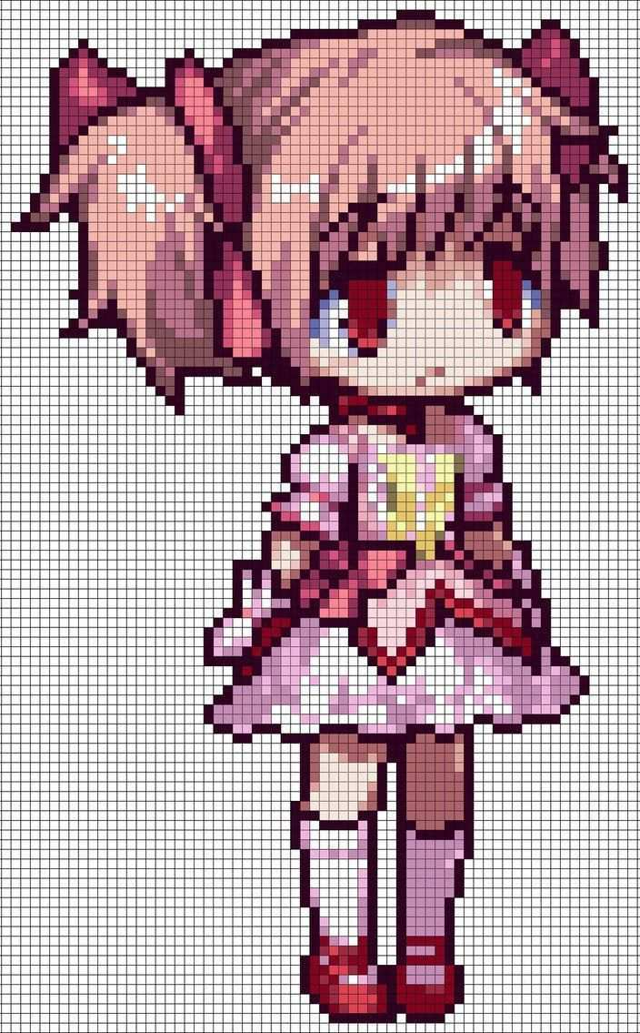 Resultado De Imagen Para Pixels Arts De Anime En Minecraft Template Bugelperlen Muster Perlenkunst Bugelperlenvorlagen