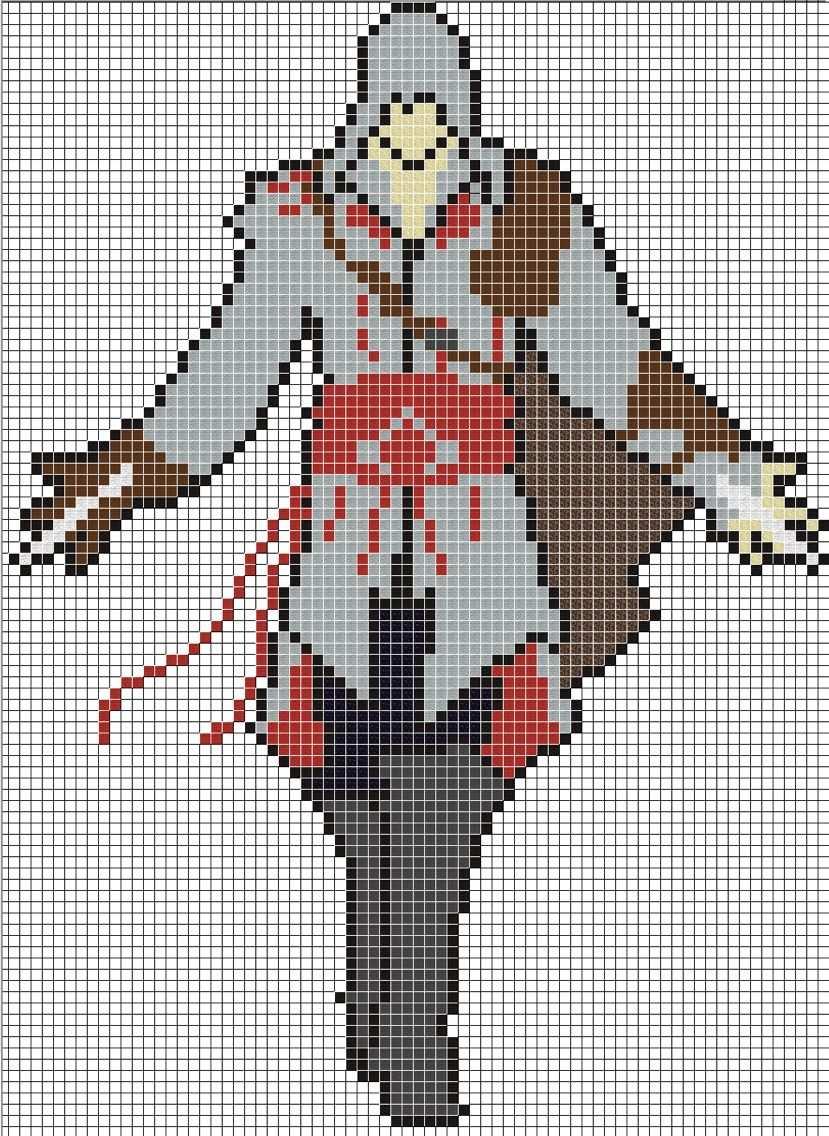 Assassins Creed Minecraft Pixel Art Pixel Art Grid Anime Pixel Art