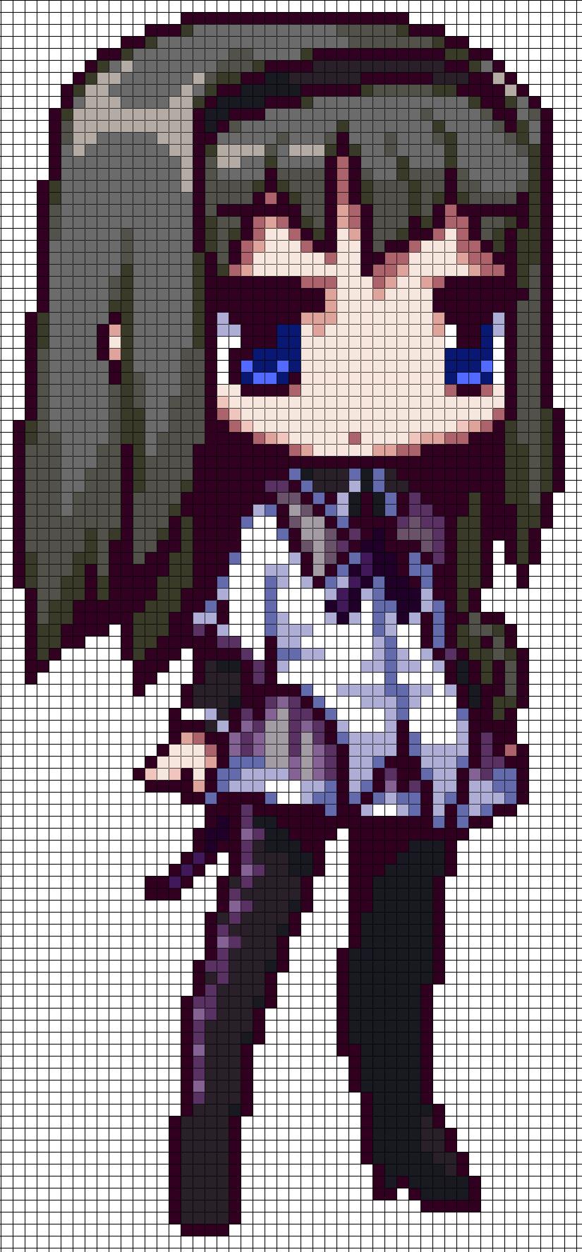 Pmmm Homura Akemi Pattern By Maddogscreations Deviantart Com On Deviantart Pixelart Vorlagen Pixel Kunst Bugelperlen Vorlagen