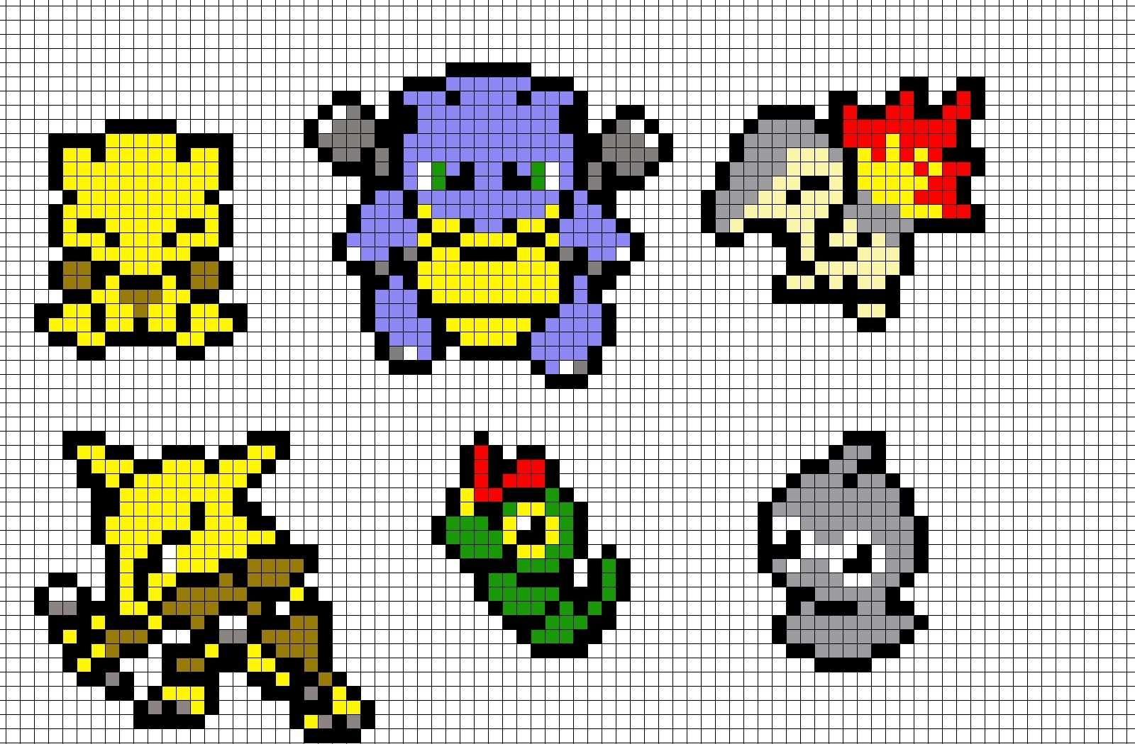 Pokemon Pixel Art By Brainless937 On Deviantart Pixel Art Pokemon Pixel Art Pokemon Cross Stitch